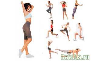 упражнения для похудения верхней части ног