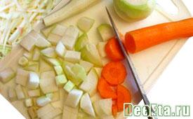 мелко нарезанные овощи