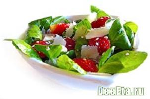 Салат итальянский из шпината с помидорками Черри