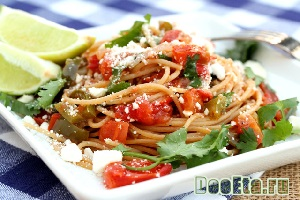 Спагетти с томатным песто
