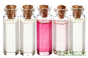 Bottles of Spa essential oils